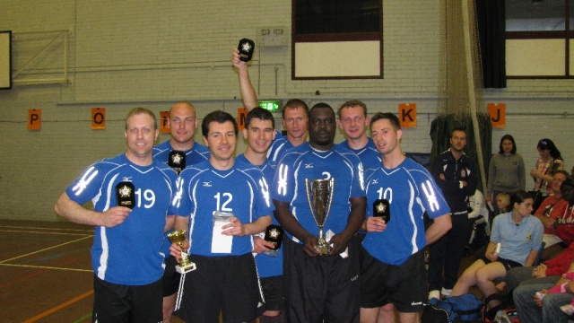 City of Bristol picking up their championships trophies